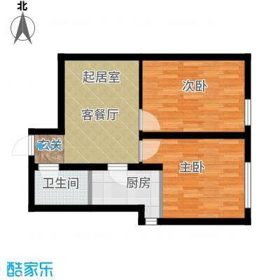 千缘爱在城64.32㎡公寓4户型