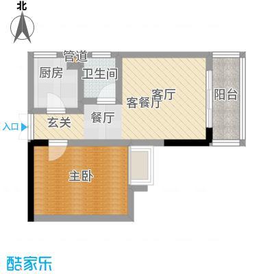 宏声新座户型1室1厅1卫1厨