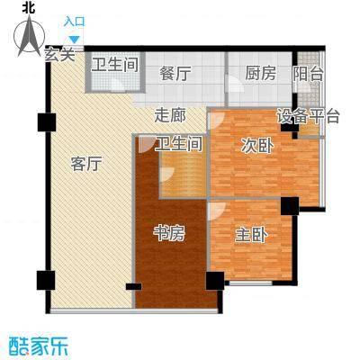 东方财富公寓175.65㎡A户型
