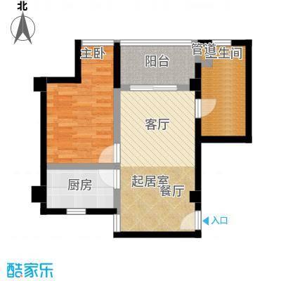 香榭豪庭55.21㎡房型户型