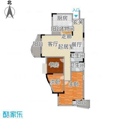 东方家园91.65㎡房型户型