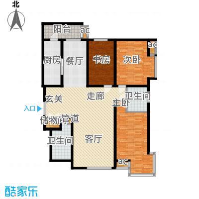 凯摩国际公寓160.00㎡房型户型