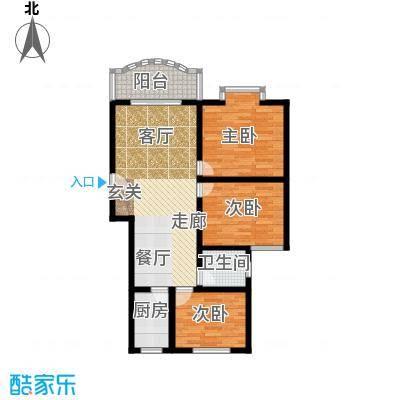 金碧园户型3室1厅1卫1厨
