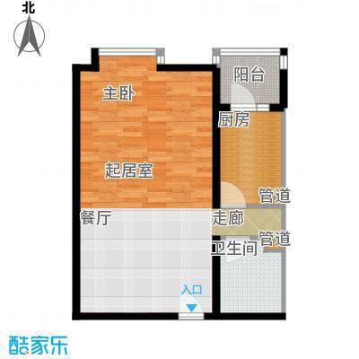 北京上舍61.62㎡1号楼D户型