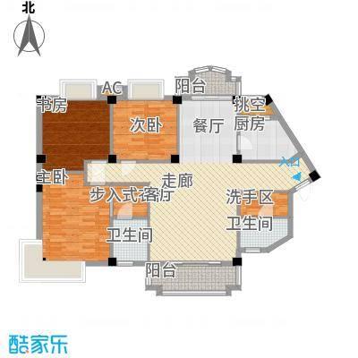 明发滨江新城116.00㎡124m2户型