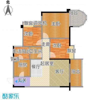 巨宇江南户型3室1卫1厨