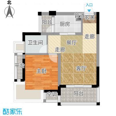 俊峰龙凤云洲49.14㎡-户型