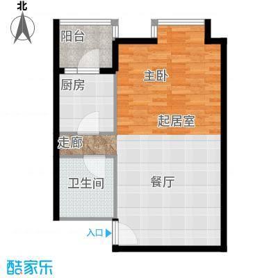 北京上舍61.36㎡1号楼E户型