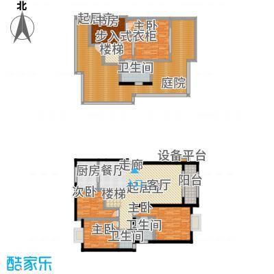 海宇嘉茵苑户型4室3卫1厨