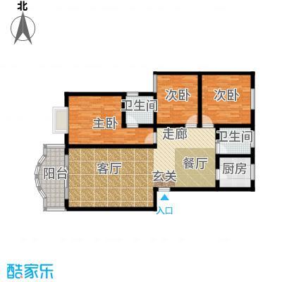 金碧园户型3室1厅2卫1厨