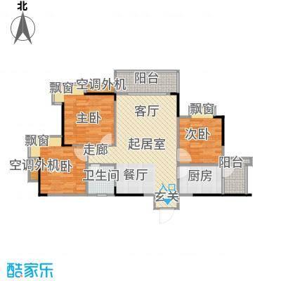 达飞玖隆城74.17㎡房型户型