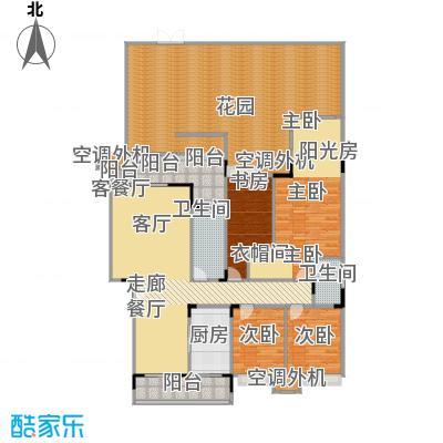 福江・名城名城134.48㎡5号楼1单元1层2号房4室户型