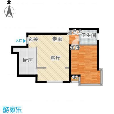 凯摩国际公寓60.00㎡房型户型