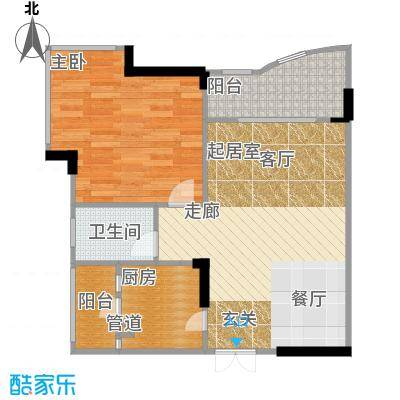 东方家园38.35㎡房型户型