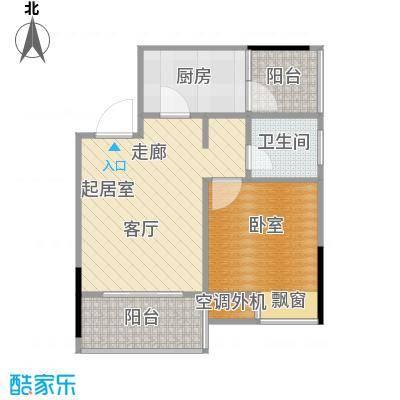 达飞玖隆城33.38㎡房型户型