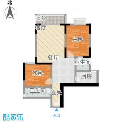 百康年世纪门51.31㎡房型户型