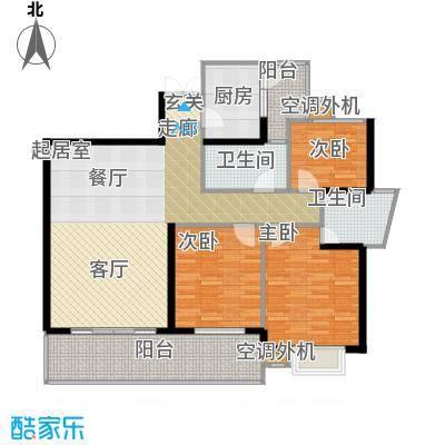 庆业巴蜀城B区89.98㎡房型户型