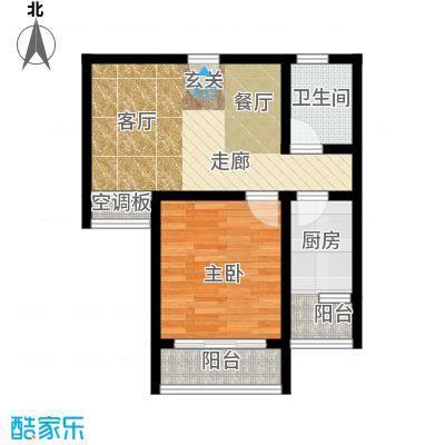 桃源芳居户型1室1厅1卫1厨