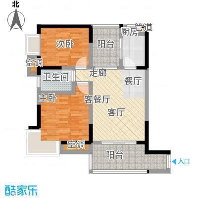丽水菁苑栖景湾65.07㎡丽水菁苑三期单卫户型