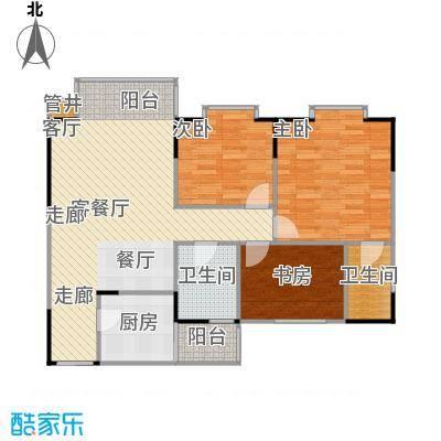 土桥新都大厦户型3室1厅2卫1厨