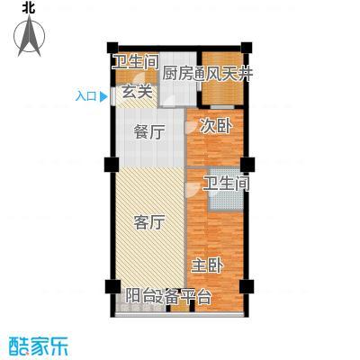东方财富公寓130.81㎡B户型