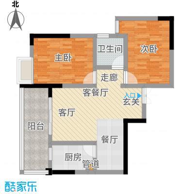 宏声新座户型2室1厅1卫1厨