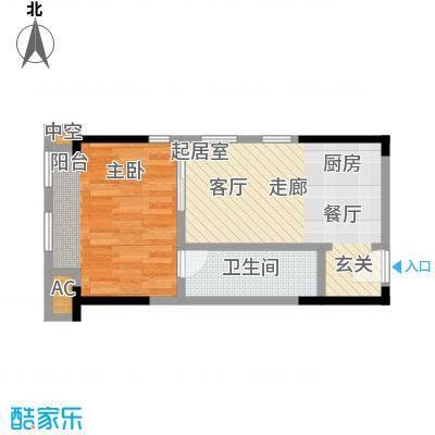 协信中心44.85㎡67号房户型-T