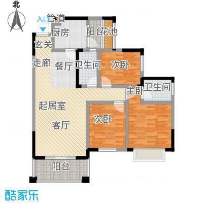爱加・西西里爱加西西里爱加西西里二期10号楼标准层E4户型