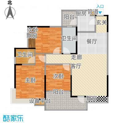 巨成龙湾88.61㎡房型户型