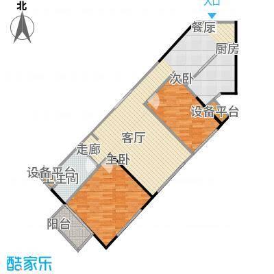 城市广场60.18㎡房型户型