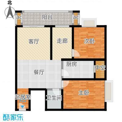 江枫雅居89.37㎡A户型