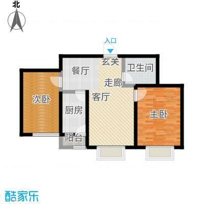 幻景家园76.90㎡4号楼B-2户型