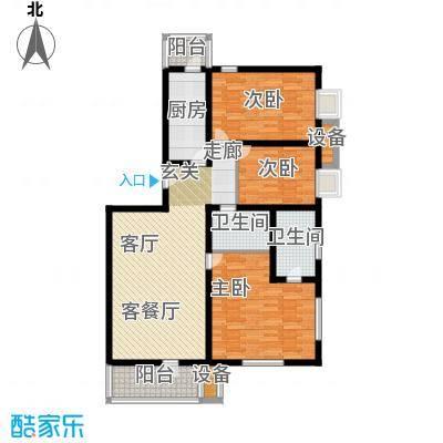燕宇艺术城109.59㎡户型
