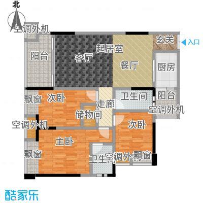 典雅中央广场A2-1双阳台方正户型