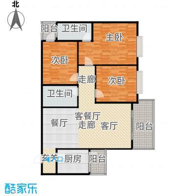 白龙嘉和丽景户型3室1厅2卫1厨