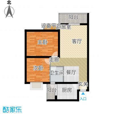 中农怡锦苑77.04㎡-户型