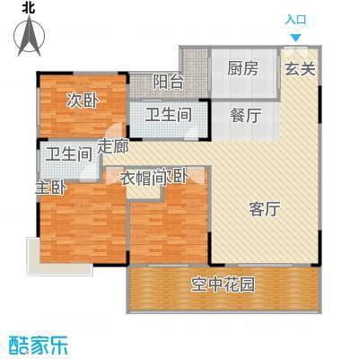 云海蓝湾户型3室1厅2卫1厨