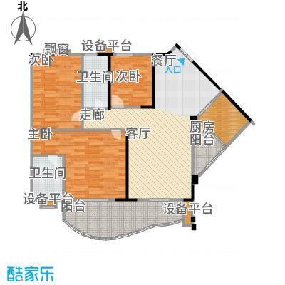 华宇・金沙港湾91.44㎡房型户型