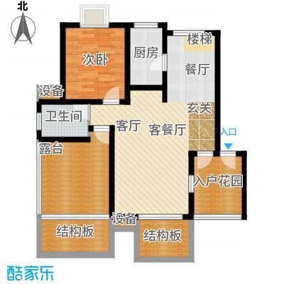 天元吉第城户型1室1厅1卫1厨
