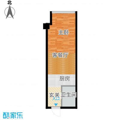 东方财富公寓44.85㎡E户型