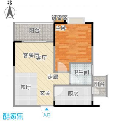 金秋家园户型1室1厅1卫1厨