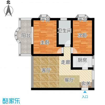 响水苑户型2室1厅1卫1厨