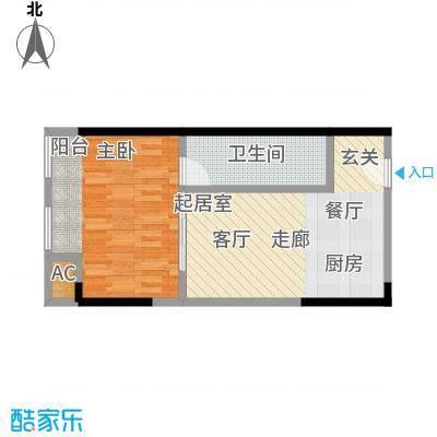 协信中心43.05㎡3号房户型-T