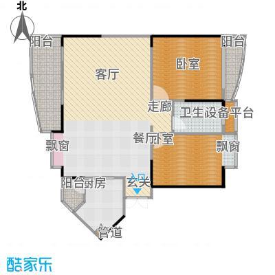 华宇・金沙港湾61.94㎡房型户型