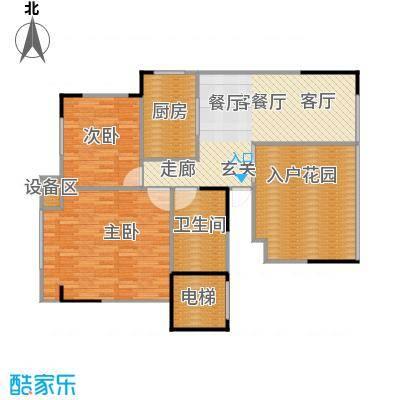 竹韵山庄户型2室1厅1卫1厨