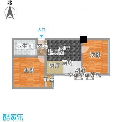 江州世纪英皇54.71㎡房型户型