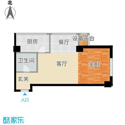 东方财富公寓69.74㎡F户型