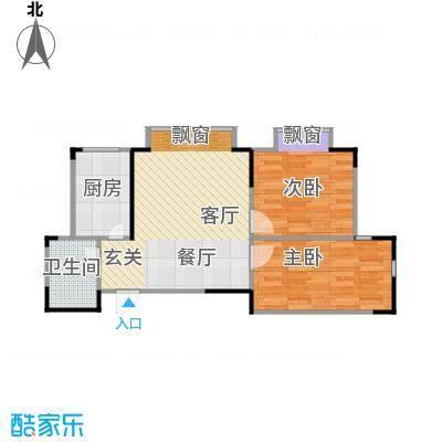 金田花苑户型2室1厅1卫1厨