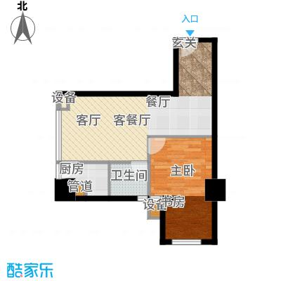 珠江彩世界K-1温馨小筑户型