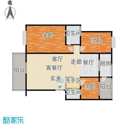 法苑小区户型3室1厅2卫1厨